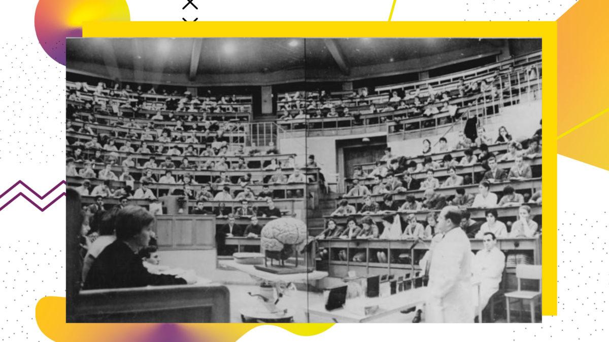 Studierende in einem Hörsaal im Jahr 1961 Studium in der DDR