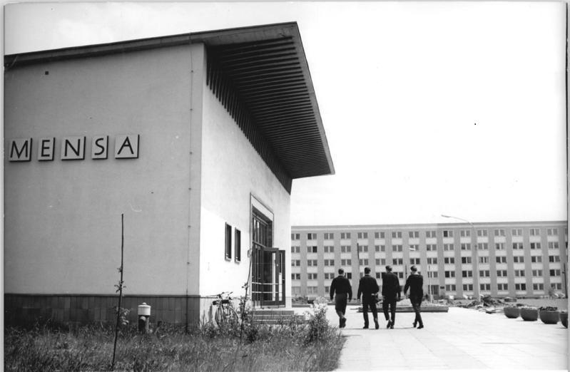 Mensa der Technischen Universität Magdeburg im Jahr 1965 Studium in der DDR