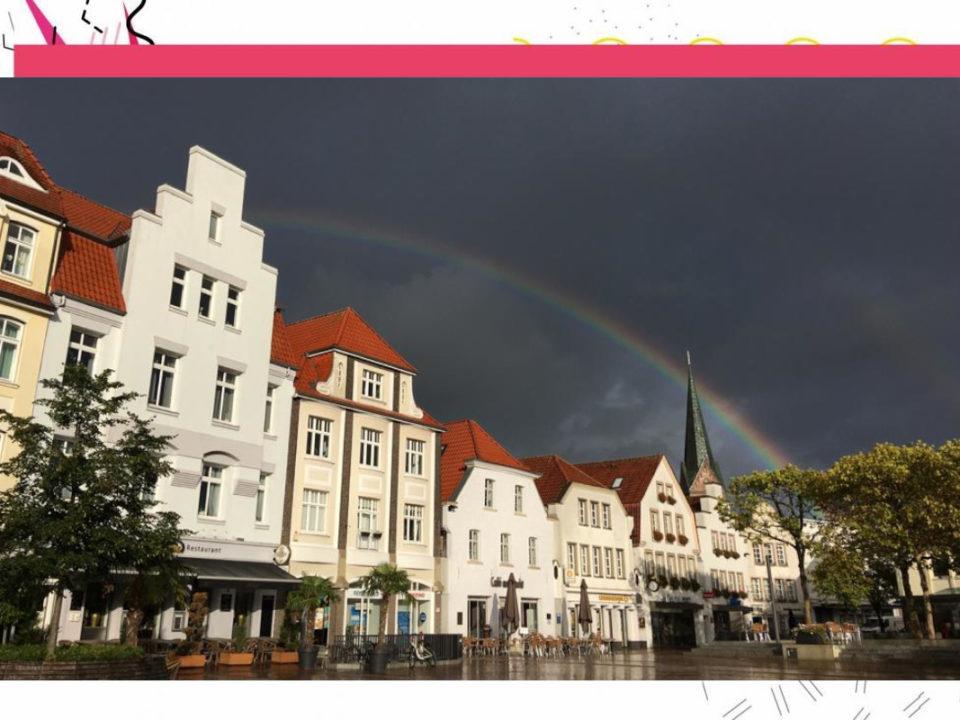 Titelbild der Kolumne mit Blick auf den Marktplatz in Lingen