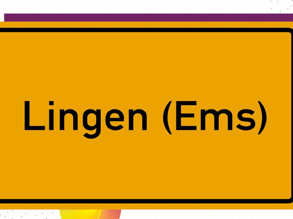 Ortsschild der Stadt Lingen