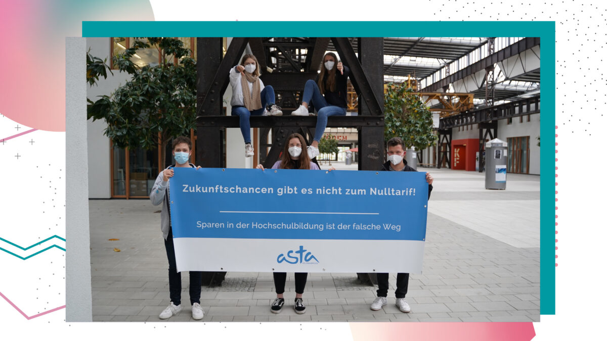 Protest des AStA der Hochschule Osnabrück am Campus Lingen